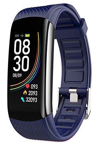 Fitness Tracker Damen Herren Sport Uhr mit Blutdruck Pulsuhr Männer Armbanduhr Schrittzähler Wasserdicht Aktivitätstracker Kaloriezähler Smartwatch IOS Android