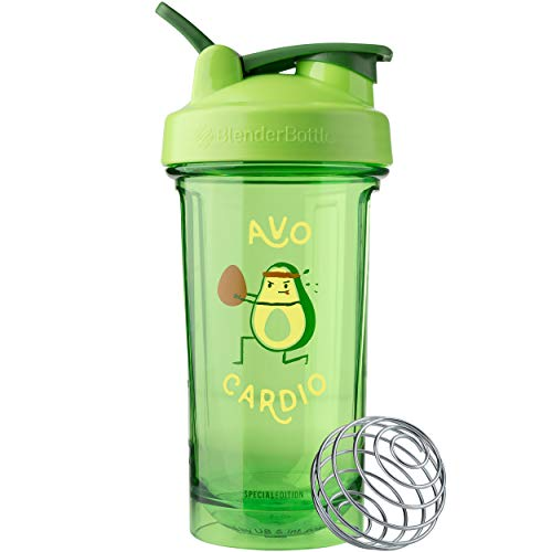 BlenderBottle Foodie Shaker Bottle Pro Series Perfect for Protein Shakes and Pre Workout, 24-Ounce, Avo Cardio