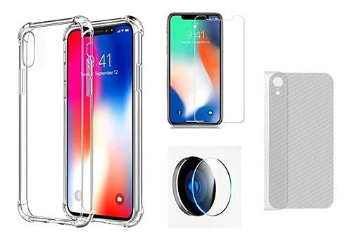 Capa iPhone XR + Películas Câmera + Frontal + Traseira Carb (C7COMPANY)