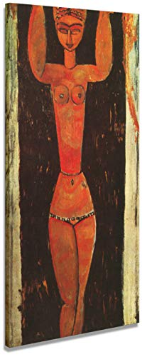 digitalpix Artenòr Bild Modigliani Amedeo Göttin 1913 – Kunstdruck auf Leinwand, 42 x 81 cm