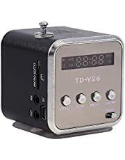 Nimoa Mini głośnik odtwarzacz muzyczny przenośne radio FM stereo PC moda obsługa karty TF i dysk U (czarny)