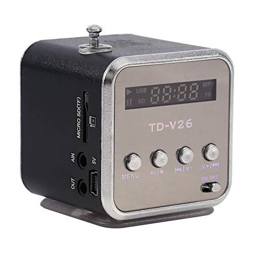 Diyeeni Mini Lautsprecher, Tragbare Soundstation MP3 Player mit FM Radio, 3,5mm Audio Buchse, 5 Std. Musikzeit, Stereo Musikwürfel Unterstützt USB Stick, Micro SD, TF