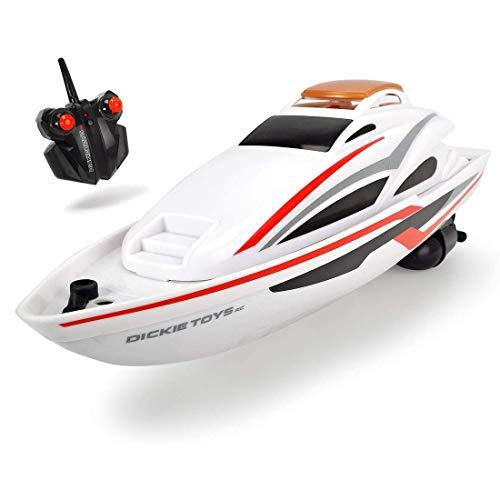 Dickie Toys RC Sea Cruiser, ferngesteuertes Boot, inkl. Fernbedienung, RC Speed-Boot, Spielzeugboot, Ready to run, inkl. Batterien, Reichweite ca. 15 m, bis zu 2km/h schnell, 34 cm groß, ab 6 Jahren