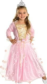 Child's Rose Princess Costume with Fiber Optic Light Twinkle Skirt Medium