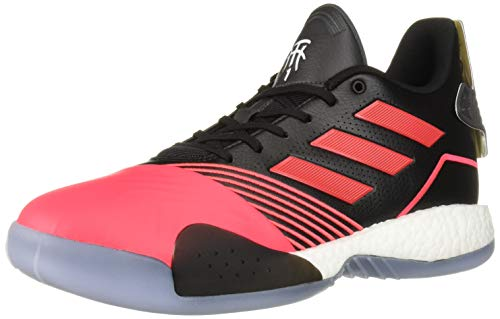 adidas Men's TMAC Millennium Basketball Shoe, Black/Shock red/Dark Grey Heather Solid Grey, 8.5 M US