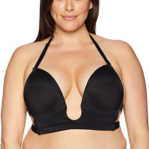 Maidenform Women's Sexy Plunge Convertible Bra-Full Figure Sizing, Black Size, 15