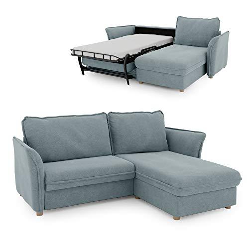 place to be. Schlafsofa Insideout 85 mit Recamiere rechts als Tagesbett mit 85 x 200 cm Liegefläche Salbei Eiche massiv