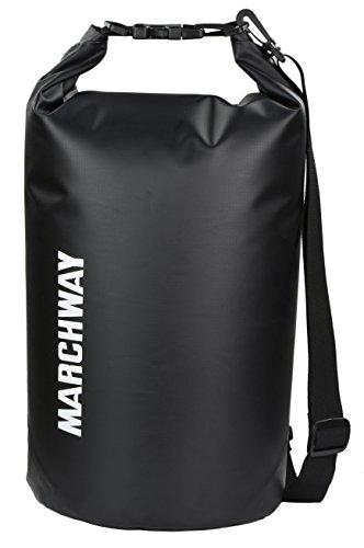 marchway Floating Wasserdicht Dry Bag 10L/20L–Schützen Sie IHRE Gegenstände sicher, trocken, sauber aus Kajak, Rafting, Bootfahren, Camping, Strand, Angeln, schwarz