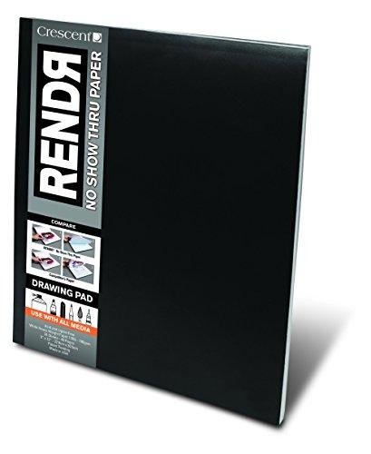 Crescent RENDR Markerpapier - Zeichenblock 48 Seiten/24 Blatt - 180g - 23x30,5cm