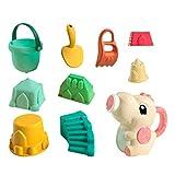 9stück Sandspielzeug Junge Set, Strandspielzeug Kinder, Strand Spielzeug Sand Set, Sandkasten-Eimer - Formen, ummer Outdoor-Spielzeug Spielzeuglastwagen,für Kinder Outdoor Aktivität