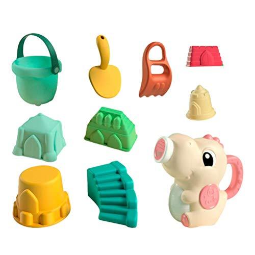 ABCDJHH Juego de juguetes de playa para niños, 9 unids nuevo juego de juguetes de playa para niños piscina al aire libre jugando pequeño dinosaurio arena pala conjunto Color de la imagen Un tamaño