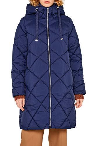 ESPRIT Damen 099Ee1G040 Mantel, Blau (Navy 400), X-Small (Herstellergröße: XS)