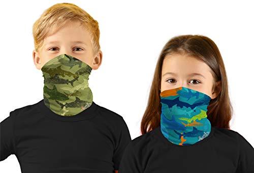 LittleGirls Face Ski Mask Hunting Bandanas Sport Neck Gaiter UPF 50+ Sun Mask Scarf for Boys