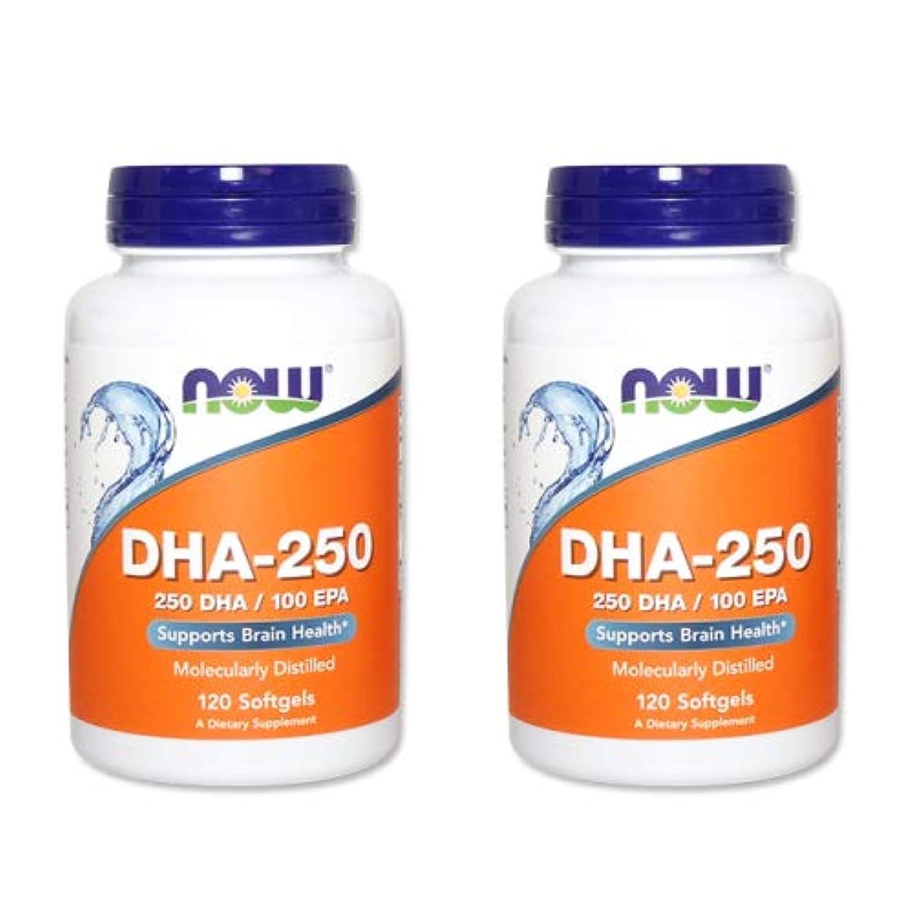 無謀伴う無し【2個セット】【粒小さめ低含有タイプ】DHA-250 120粒(DHA&EPA配合) [海外直送品]