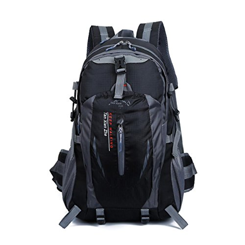 Multifonction Camping sac à dos grande capacité imperméable à l'eau léger sac portatif sac à dos pour l'alpinisme randonnée voyage équitation Sports Outdoors Bag H50 x L33 x T20 cm , black