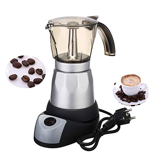 GU YONG TAO 6 Tasses Professional Electric Espresso/Moka Coffee Maker - 300 ML Portable Aluminium Electric Coffee Pot for Home Kitchen Coffee Making