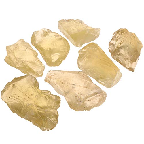 SODIAL Crudo Piedras ásperas de Cristal de Cuarzo Citrino Natural Piedras Nuevo