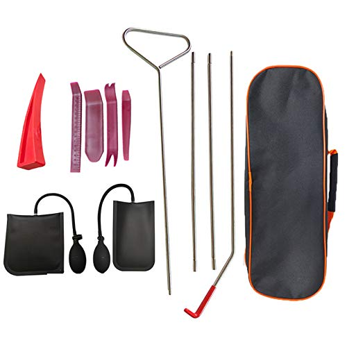 Professional Car Tool Kit, Easy Entry Long Reach Grabber, Automotive Car Tool Sets, Emergency Kit, Air Wedge, Non Marring Wedge and Tool Bag