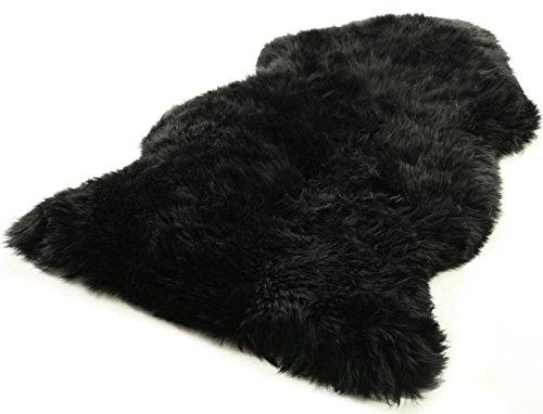Zaloop Australisches Lammfell schwarz ca. 100-110 cm lang