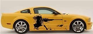 Anime Rifle Girl Gun Car Vinyl Graphics Sticker 002