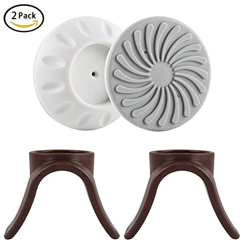 Baby Wall Guard Pads + Banister Adapters for Stairs & Pressure Gates Safety Indoor Gate Wall Protector 2 Pack