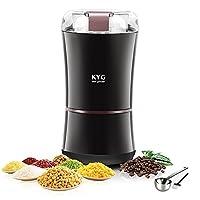 kyg macinacaffè elettrico 300w con lame in acciaio inox macinino inossidabile 304 coffee grinder per chicchi di caffè macina spezie semi pepe zucchero sale