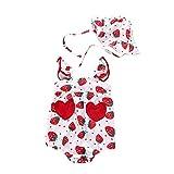 JoyJay-Clothing Baby Body Kurzarm-Body,Mädchengurte Schöner Bodysuit mit Apple-Print,Fun-Bodys Einteiler,Mädchen Strampler Hut Set Outfits,Baby Sunsuit Clothes,Geschenk für Baby Kriechen Set
