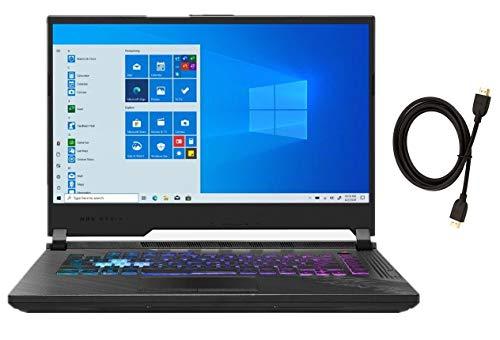 "Asus ROG Strix G15 15.6"" 240Hz FHD IPS Gaming Laptop   Intel 8-Core i7-10870H   GeForce RTX 2060   32GB DDR4 RAM   1TB SSD   Backlit Keyboard   Windows 10   Whit Woov High Speed 6FT HDMI Cable Bundle"