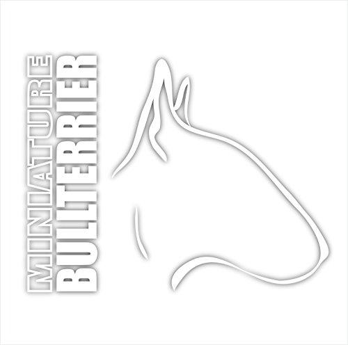 Siviwonder Auto Aufkleber MINIATURE BULLTERRIER Profil Hundeaufkleber white