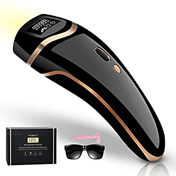 Fasbruy IPL Hair Removal Permanent Painless Laser Hair Remover Device for Women and Man Upgrade to 999,999 Flashes for Facial Legs Arms Armpits Body At-Home Use  Black