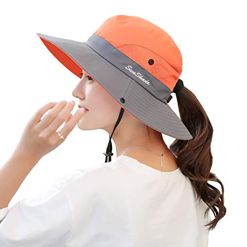 JINRMP Sun Hat Wide Brim Summer Sunshade Hat Foldable Girls Fashion Travel Cap Outside Cap Students Travel Cap