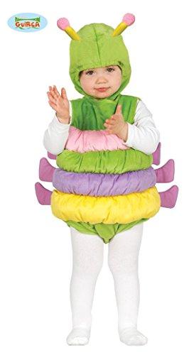 Guirca- Costume Verme Bruco Neonati 6/12 Mesi, Multicolore, 85989