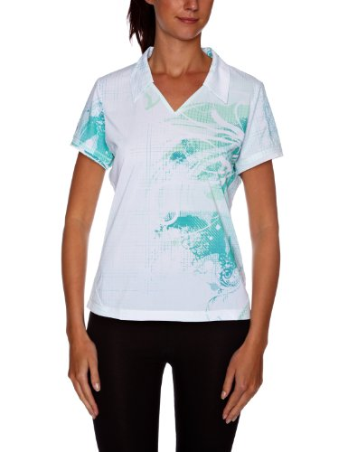SALOMON Champex Polo pour Femme Blanc White/Light Mint/Bay Blue X Small