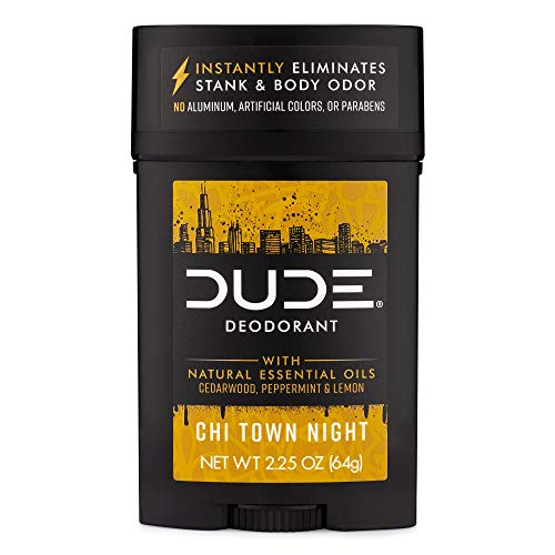 DUDE Natural Deodorant Stick, Chi Town Night, 2.25 Ounces