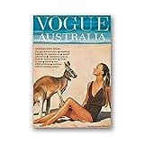 Xynfl Australia 1964 Cartel E Impresión Moda Mujer CanguroLienzo Pintura Imagen Hogar Pared Arte Decoración -50X70Cmx1 Sin Marco