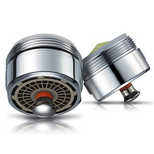Aireador de ahorro de agua conmutable Start/Stop cromado Perlator Aerator para grifo de cocina, ahorro de agua