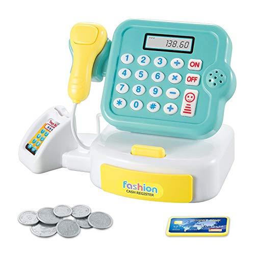 Kuyoly Juguetes para el hogar de los niños Mini supermercado Cajero Juguetes calcular los regalos de las muchachas con el sonido y la luz caja registradora juguete