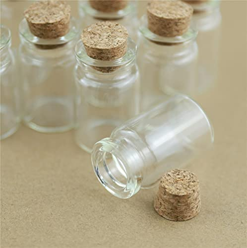 NLLeZ 24 Piezas 22 * 35 mm 7 mm Pequeño Tapón de Vidrio Tapón Tubo Tubo Artesanías Tiny Frascos Transparente Vaso vacío Mini Corchos Botella Regalo Frasco