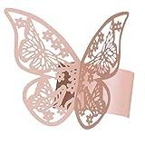 Autumne 50 StüCke 3D Schmetterling Papier Servietten Ringe für Hochzeiten Party Serviette Tisch Dekoration Schmetterling Servietten Ringe
