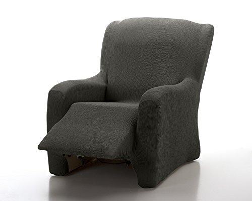 TEXTIL-HOME Textilhome - Housse Fauteuil Relax Complète Marian Elastique, Taille 1 Places- 70 a 100Cm. Couleur Noir