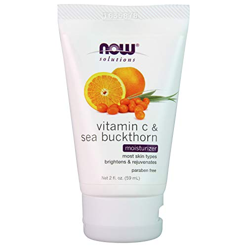 NOW Solutions, Vitamin C and Sea Buckthorn Moisturizer, Brightening and Rejuvenating, 2-Ounce