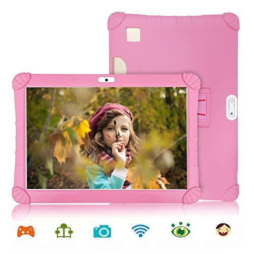 4G Tablet 10 Pollici con Wifi Offerte Android 9.0 Certificato Google GMS 3GB RAM 32GB/128GB Tablet PC in Offerta 8500mAh Dual SIM 8MP Camera Tablet Android Offerta Del Giorno con Netflix OTG(Rosa)