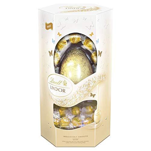 Lindt Lindor Blanco Chocolate Pascua de Resurrección Huevo con Blanco Lindor Trufas, 340 g