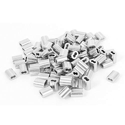 Best Deals! 500 pcs Aluminum Swage Sleeves for 3/16 Wire Rope Cable