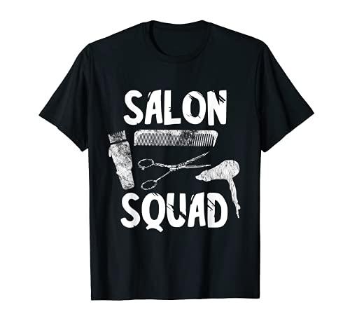 Pelotón Peluquería Equipo Peluquería Peluquería Grupo Camiseta