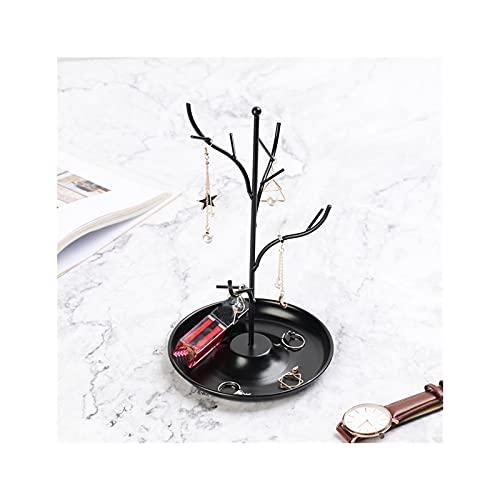 LYLY Soporte de joyería para rama de árbol, soporte de exhibición de joyas, collar de hierro, pendiente, pulsera, organizador de rack, torre de joyería, sostenedor de joyería (color: negro)
