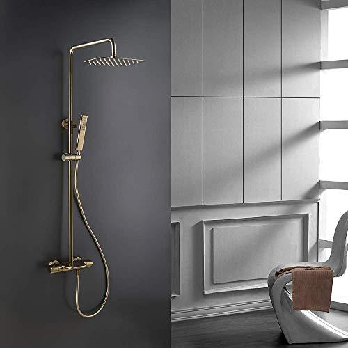 MTYLX Sistema de Ducha de Baño con Grifo de Agua Juego de...