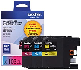Brother LC-103 High Yield Ink Cartridge Set Colors Only (CMY)