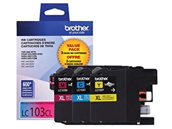 Brother LC-103 High Yield Ink Cartridge Set Colors Only  CMY