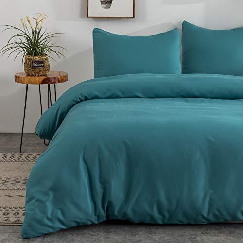 MOHAP Sets de Housse de Couette 220x240cm + 2 taies d'oreiller 65x65cm Lac Bleu Parure de Lit 2 Personnes